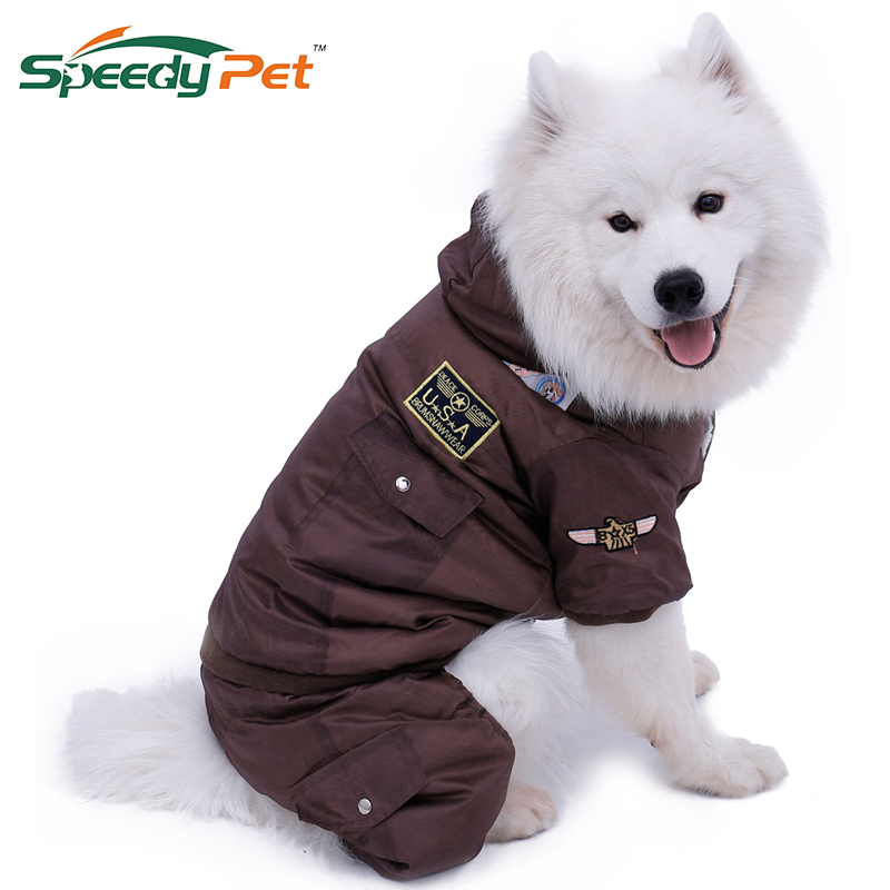Large Dog Warm Clothes Winter Clothing Pet Dog Jumpsuit Warm Big Dog Track Suit Puppy Hooded Jacket Coat Product XL-5XL