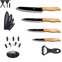 High Quality XYj Brand Black Blade Ceramic Knife 6 Pieces Set 3 4 5 6 Kitchen