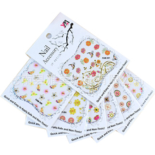 30 Sheet Random Design Stamping 3D Nail Art Sticker Set  Bronzing Flower Adhesive Self Decal DIY Manicure Tools