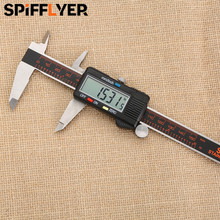 Best price 150mm LCD digital caliper stainless steel jewellers tools calliper calibre vernier calipers electronic ruler woodwork measuring