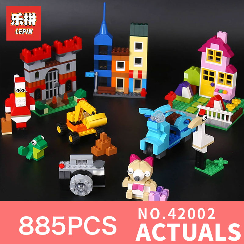 Lepin 42002 Genuine Series 885Pcs The Big Box Builing Blocks Bricks Educational Toy Model for Children Gifts LegoINGlys 10698 степлер мебельный со скобами sparta 42002