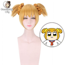 Anime Cosplay Wig Golden Blonde Short POP TEAM EPIC Costume Play Wigs Halloween Synthetic Hair free shipping NEW High quality цена 2017