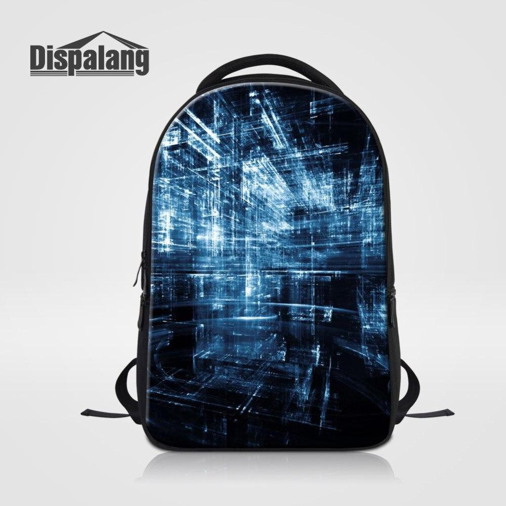 Dispalang décontracté femmes hommes sac à dos pour ordinateur portable 3D espace impression sac à dos grand sac à dos cartable pour adolescents sacs d'école