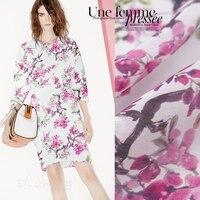 Digital inkjet silk linen fabric summer breathable silk fabric for dress wide clothing cheongsam linen fabric linen cloth