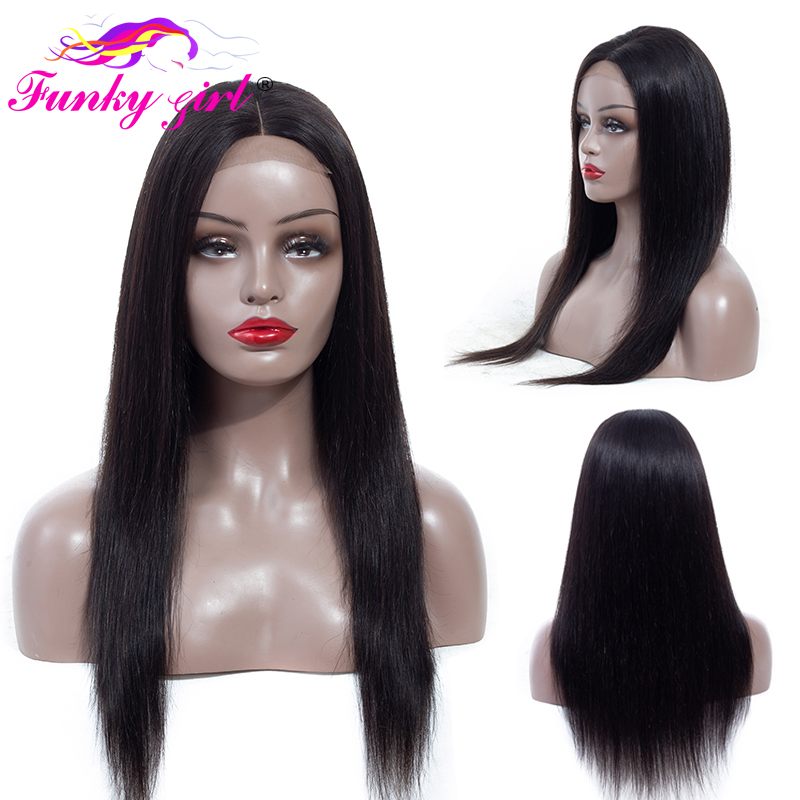 Funky Girl Wig 4x4 Lace Front Human Hair Wigs Pre Plucked With Baby Hair 150 Malaysia