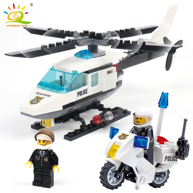 Air Force plane DIY Bricks Compatible legoed Police city Helicopter motorcycle Building Blocks Boy's Toys for Kids Birthday Gift