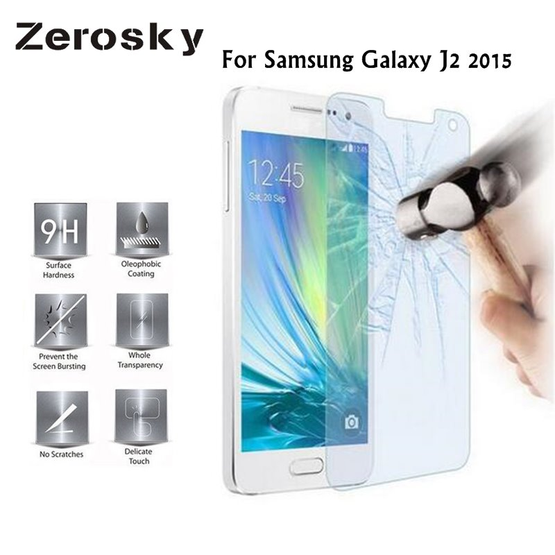 Zerosky 2pcs For Samsung Galaxy J2 Tempered Glass J2 2015 J200 Screen Protector Glass Premium Hardness 9h Film image