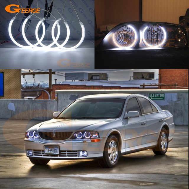 For Lincoln Ls 2000 2001 2002 Excellent Angel Eyes Ultra Bright Headlight Illumination Ccfl