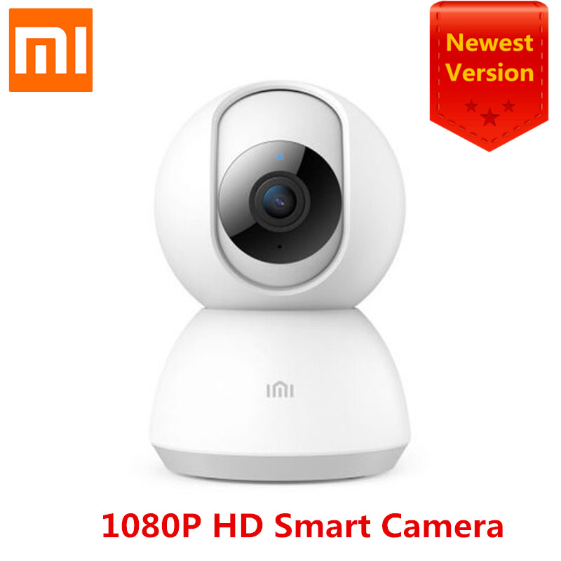 100% Original Xiao mi mi jia mi Smart Cam berceau tête Version 1080P 360 degrés Vision nocturne Webcam IP caméscope WIFI App contrôle