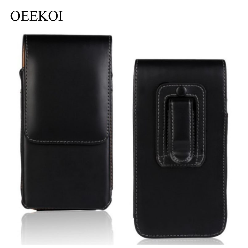 OEEKOI Belt Clip PU Leather Waist Holder Flip Cover Pouch Case for Karbonn Mobiles Titanium S29 Elite/S9 Lite 5.5 Inch