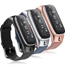 หรูหราสมาร์ทวงนาฬิกาM6บลูทูธที่ถอดออกได้ชุดหูฟังกีฬาPedometerการนอนหลับการตรวจสอบสร้อยข้อมือสำหรับA Ndroid/IOSมาร์ทโฟน