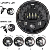"New for motor Motorcycle 7inch Round Adaptive LED Headlight High Low Beam 7"" Brightest Motor Headlight For BMW R NineT R9T