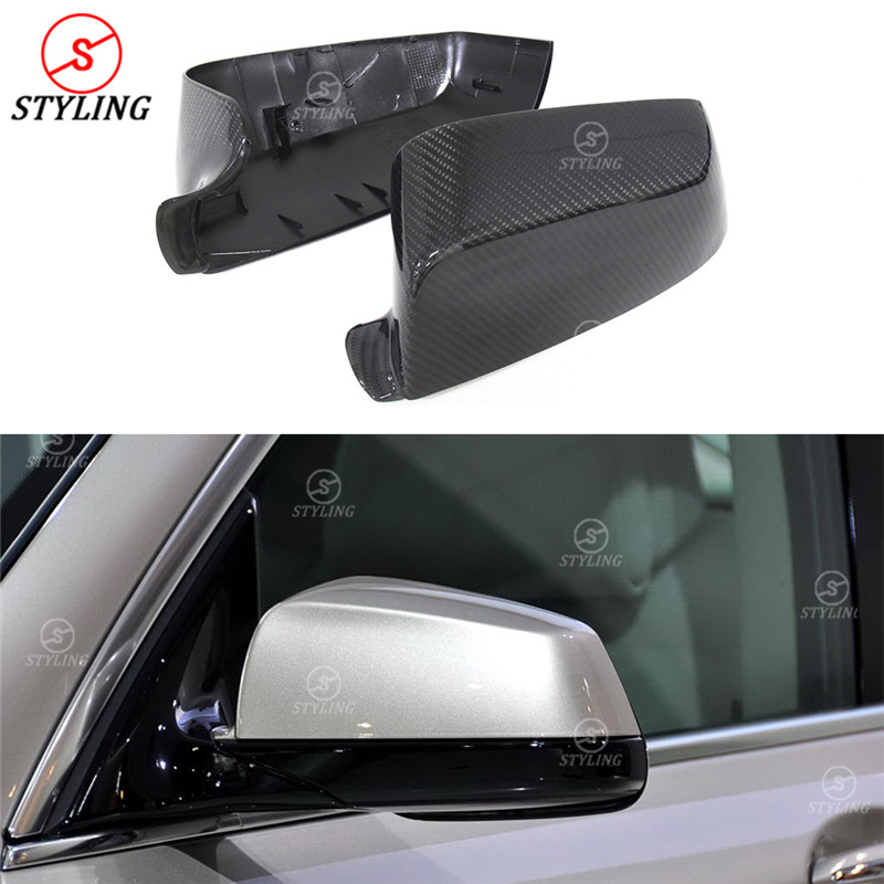 цена For BMW 5 6 7 Series E60 Mirror Cover F07 F12 F13 F06 F01 F02 Carbon Fiber Rear Side View Mirror Cover 2009 2010 2011 2012 2013