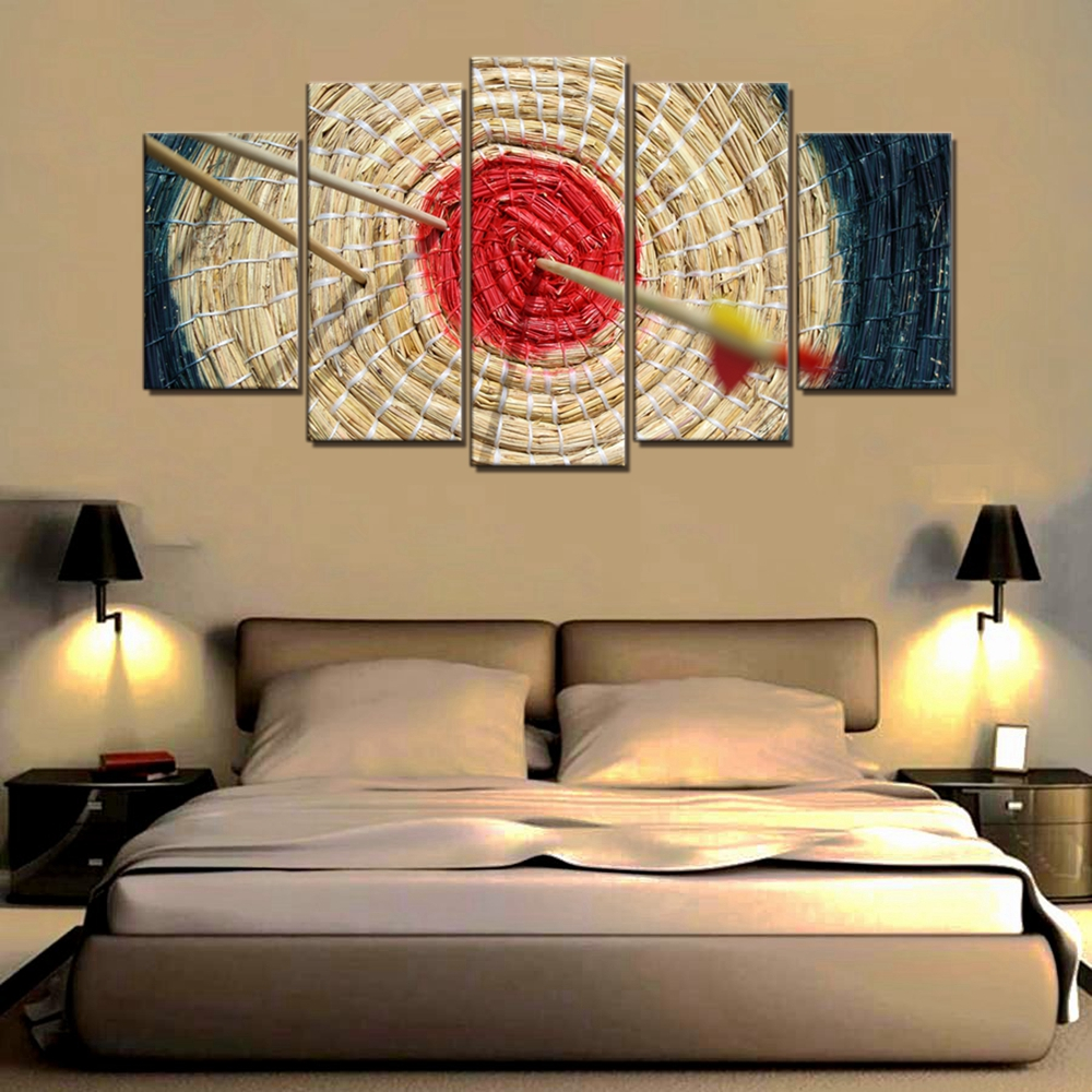 Landscape Poster Art Print Arrow Red Target Sport Wall Art Canvas ...