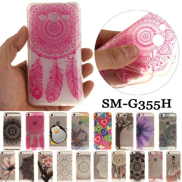 Luxury Phone Case sFor Samsung Galaxy Samsung Galaxy Core 2 Duos G355H SM-G355H G355 H Transparent Soft Silicone TPU Back Cover