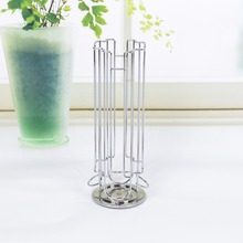24 Capsule Coffee Pod Holder Tower Stand Rack Storage Holder Rack Stainless Steel Capsule Holder