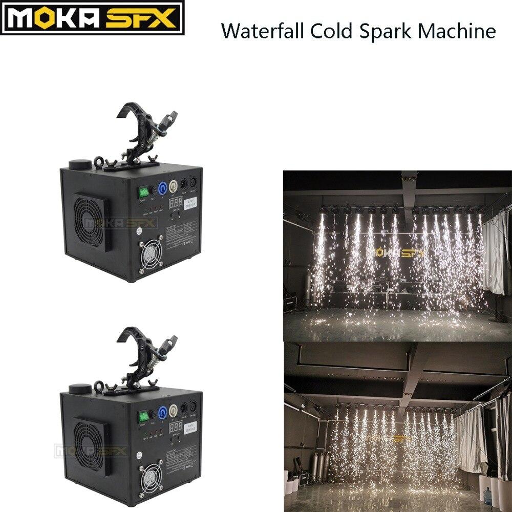 2 pièces cascade froide étincelle fontaine froide étincelle effet Machines DMX sans fil télécommande pour mariage discothèque scène fête