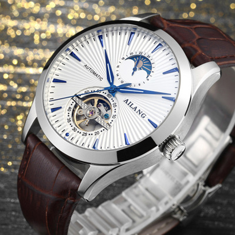 Marca de lujo ailang hombres Relojes automáticos Relojes Tourbillon - Relojes para hombres - foto 6