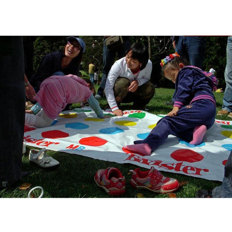 1 set Classic Fun Outdoor Sports Toys Twister Moves Game Play Mat Twisting Body Interactive Outdoor Sports Toys Birthday Gift