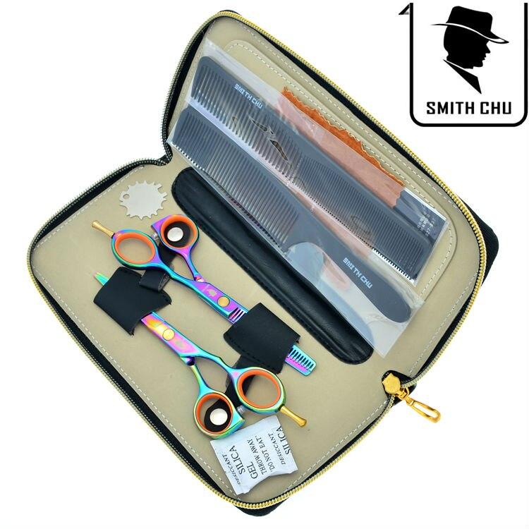 Hair Care & Styling 5.5 Professional Barber Hair Shears Kit Cutting & Thinning Scissors Hairdressing Set Salon Razor Lzs0093