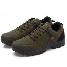 Мужская Рабочая обувь; коллекция года; однотонная Нескользящая износостойкая обувь для путешествий; уличная дышащая мужская обувь; кроссовки для рыбалки