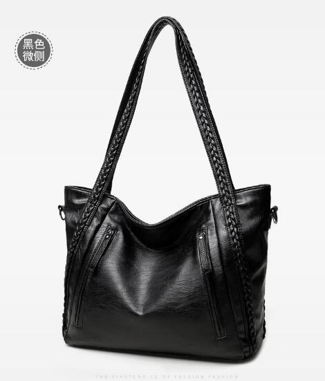 brand high quality soft leather large pocket casual handbag womens shoulder bag capacity