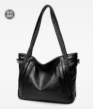 цена на brand high quality soft leather large pocket casual handbag women's handbag shoulder bag large capacity handbag