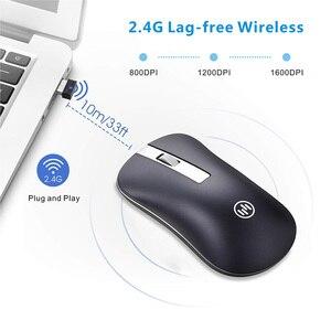 Image 3 - Mouse Wireless Bluetooth Mouse da gioco silenzioso Mouse ricaricabile per Computer Mouse Wireless ergonomico da 2.4Ghz Mouse per PC USB Mause per Laptop