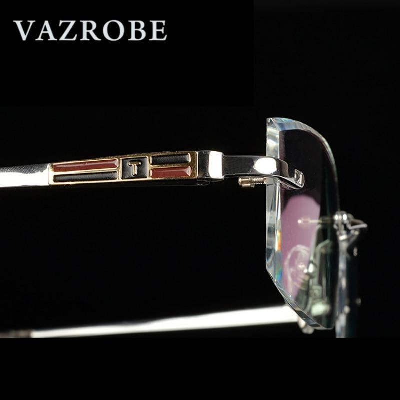 Vazrobe Titan Brille Männer Randlose Qualität Harz Objektiv Brillen ...
