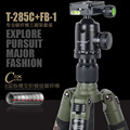XILETU Professional Carbon Fiber Tripod Kit Army Olive Green Camouflage Sleeve Military Monopod Panoramic Ball Head Q19828