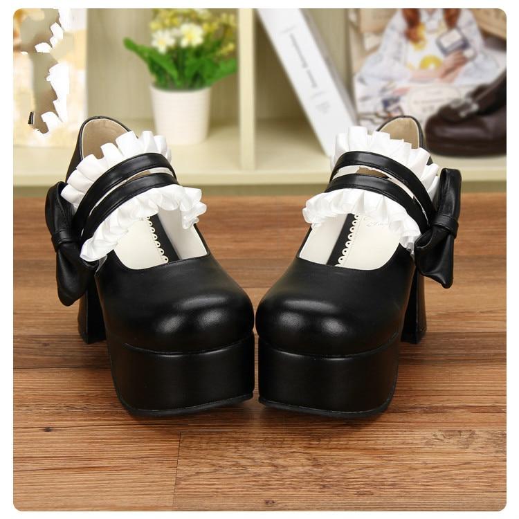 Princess sweet lolita Maid animation shoes LOLITA shoes round head muffin high heel Princess sweet Lolita shoes lady pu8526 босоножки sweet shoes sweet shoes sw010awbksf5