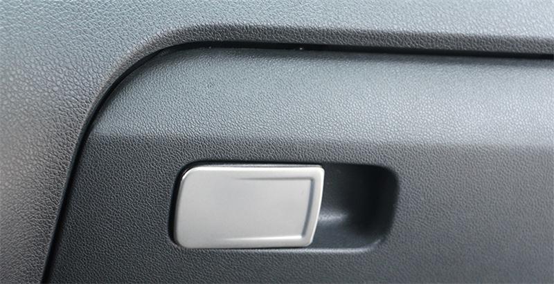 Автомобильный Стайлинг, перчаточный ящик, ручка, декоративная крышка, наклейка, Накладка для Volkswagen vw POLO 2011-, аксессуары для салона автомобиля - Название цвета: Matt Silver