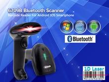 MJ-6709B Wireless Bluetooth 1D Barcode Scanner Mini Bar code Reader 1D Laser Scanner For IOS/Android/Windows1D Wireless Scanner