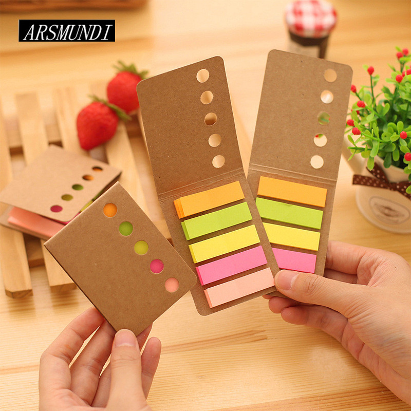 Cute Rainbow Post it Planner Stickers Sticky Notes Memo Pad Notepad For Office Kawaii Stationery Papeleria School Supplies
