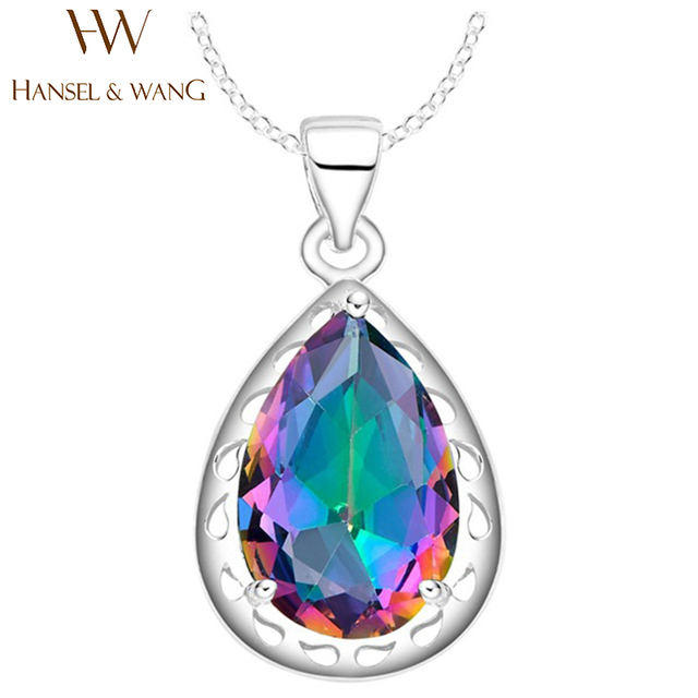 11d20a86c39f 2016 New Fashion Charm Colorful Drop Pendant Australia Crystal Necklaces    Pendants Jewelry Maxi Necklace Chain For Women 2PS23