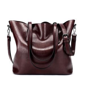 Image 1 - Shoulder Bags for Women 2020 Famous Brand Luxury Handbag Women Bags Designer Shoulder Crossbody Bag Soft Leather Handbag Vintage