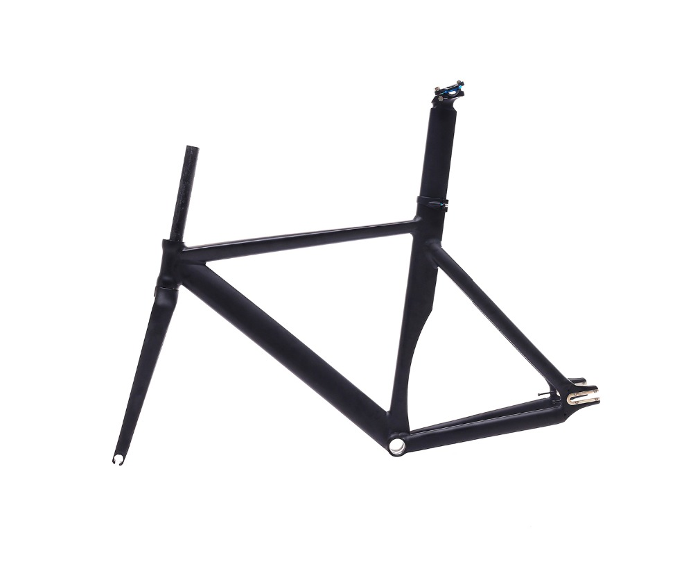 53cm 55cm 58cm fixed gear bike frame matte black Bike frame Fixie Bicycle Frame Aluminum Alloy frame with carbon fork 53cm 55cm 58cm fixed gear bike frame matte black bike frame fixie bicycle frame aluminum alloy frame with carbon fork