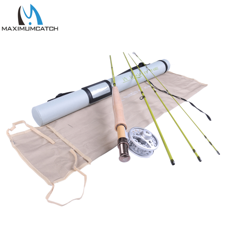 Maximumcatch  Fly Fishing Rod & Fly Reel Combo 6.6FT 2wt Medium Fast Fly Rod maximumcatch fly fishing rod combo 9ft fly rod