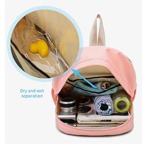 Image 2 - Women Gym Backpack Dry Wet Fitness Bag Travel Rucksack Waterproof Mujer Sac De Sport Gymtas Swimming Bag Training Bags XA850WA