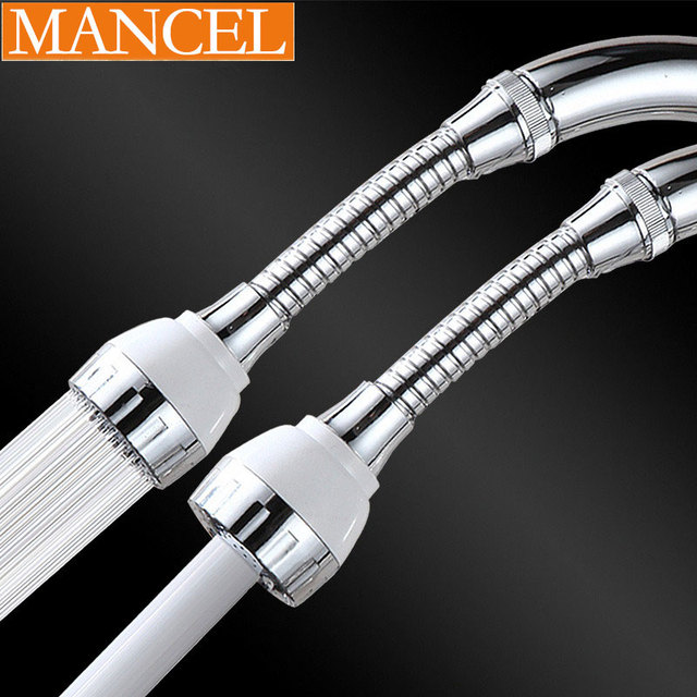 360 Degree Swivel Faucet Aerator Hose Extend Pipe Stereotypes Tube External  Flexible Sink Faucet Sprayer Attachment