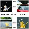 Auto acessórios 2016 NOVAS Vendas Quentes Dos Desenhos Animados Engraçados Do Gato Cauda Movendo Adesivos Refletivos Decalques da Janela Do Carro Limpador carro styling