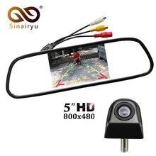 Sinairyu Auto Monitor dello specchio Auto Sistema di Assistenza Al Parcheggio 5 pollice HD 800*480 TFT LCD Car Monitor Con CCD HD Videocamera vista posteriore