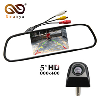 Sinairyu Auto mirror Monitor Car Parking Assistance System 5 inch HD 800*480 TFT LCD Car Monitor With CCD HD Rear View Camera