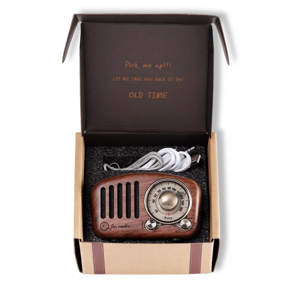 Image 5 - PRUNUS J 919 Classical retro radio receiver portable mini Wood FM SD MP3 Radio stereo Bluetooth Speaker AUX USB Rechargeable-in Radio from Consumer Electronics