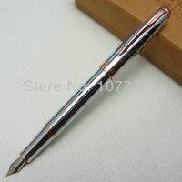 نافورة القلم بطل الشهيرة الفضة والذهب مقطع المتوسط الايريديوم هدية مربع h1015