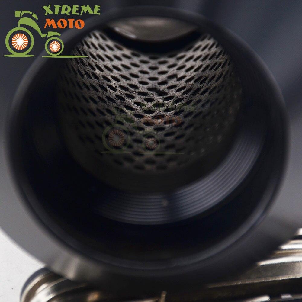 Motocicleta 51mm De Fibra De Carbono Tubo De Escape Del  # Muebles Fibra De Carbono