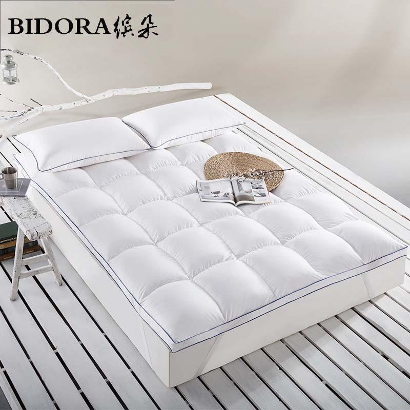 bidora feather mattress thickening 10cm warm goose feather mattress hotel mattress pad is applied to the