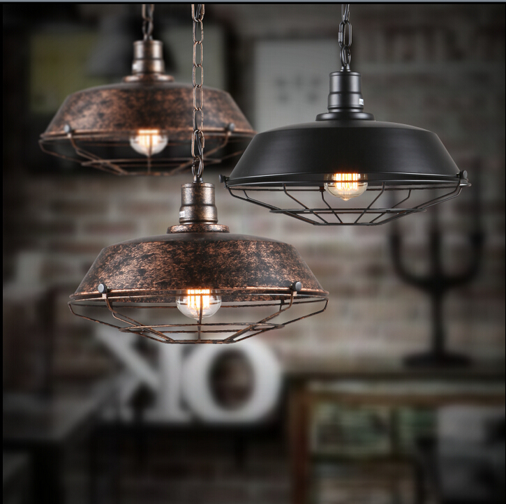industrial pendant lamps vintage retro edison bulb aluminum drop light