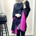 Lenços de marca de luxo Itália Marca Tamanho Grande Lenços de Cashmere Karl Desinger Pele Cobertor Poncho Echarpe Pashmina Xale Inverno Bandana