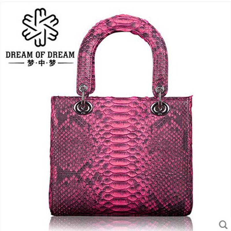 mengzhongmeng real Python skin women bag single shoulder women handbag  American fashion retro portable crossbody bag python bag yuanyu real snake skin women bag new decorative pattern women chain bag fashion inclined single shoulder women bag